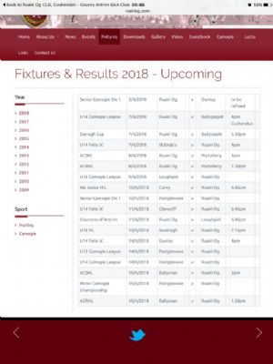 Fixtures Section