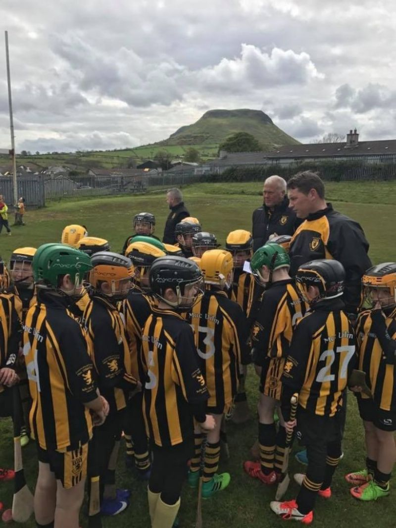 Ballycastle U10's at the half time game
