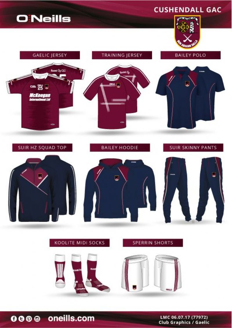 Some of the new Club range